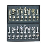 (Only Chess Pieces) Historical Rome Figures Metal Chess Pieces Medium Size King 7 cm (Board is not Included)