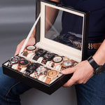 Leatherette Wrist Watch Display Box Organizer Storage Box Watch Holder Jewelry Display Case