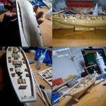 RCtown Assembling Building Kits Ship Model Wooden Sailboat Toys Harvey Sailing Model Assembled Wooden