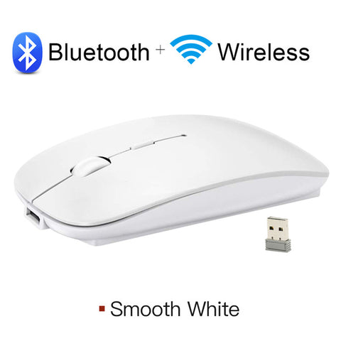 Wireless and Bluetooth Mouse for Computer Rechargeable