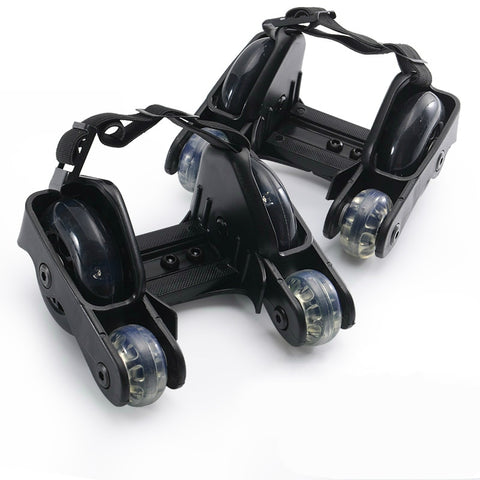 Flashing Roller Skate Shoes with 4 Wheels Pulley Lighted Flashing LED Wheels