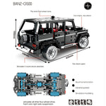 Block Technic Building G500 AWD Wagon Car Off-Road Vehicles Fit Lego Remote Control Bricks