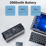 Bluetooth Speaker 25W Small Portable Home LED Screen FM Radio Alarm Clock Wireless Stereo HiFi Mic Loudspeaker Bass Subwoofer