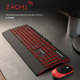 2.4G Wireless Silent Mouse Keyboard Combo Round Button Keyboard Gaming Mouse For Macbook Pro Lenovo Laptop PC Gamer Computer