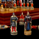 Resin doll chess game Russian Mongolia War theme chess set Chinchakhan