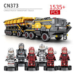 Sluban Military Model Building Block the Wandering Earth Heavy Transport Vehicle Truck 832pcs Educational Bricks Toy Boy