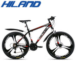 HILAND 26 Inch Steel Frame MTB 21 Speed bicycle Mountain Bike bicycle with SAIGUAN Shifter and Double Disc Brake
