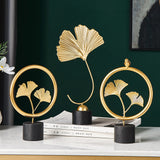 Creative Gold home decoration accessories modern flowers ornaments miniature metal
