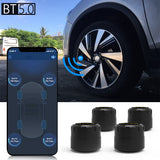 TPMS Car Tire Pressure Monitor System With 4 Sensors For iOS Android Mobile Phone APP Monitoring Alarm