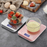 Digital Kitchen Scale, LCD Display 1g/0.1oz Precise Stainless Steel Food Scale for Cooking
