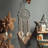 Nordic Star Moon Macrame Dream Catcher Christmas Room Decoration