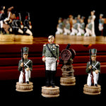 Chess Set Luxury Child Intelligence Game Historic Theme of Russian France a War Chess Sets  Only Chess pieces