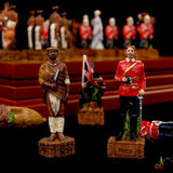 Chess Set Theme of Anglo Zulu War Chess Sets  Resin Doll Chess Pieces Wooden Board Child Game Chess Set Luxury Themed Chess