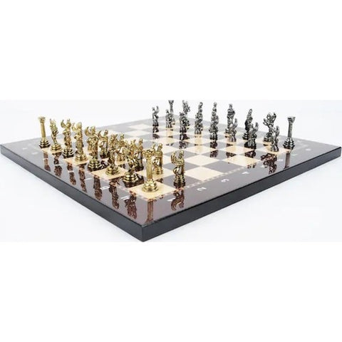 Luxury Cast Chess set Pegasus Horses