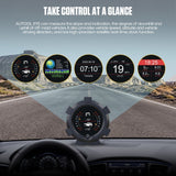 GPS Horizontal Slope Meter Inclinometer Speedometer PMH KMH Car Compass Pitch Tilt Angle Altitude Latitude Longitude