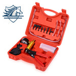 Auto Car Manual Vacuum Aluminum Pressure Pump Brake Fluid Bleeding Portable Durable Repair Set Tester Kit Vacuum Gauge