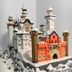 "Architecture Snowing Swan Stone Castle 3D Model Mini Diamond Blocks Bricks Building ""No Box"""