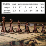 29 Cm Metal Chess Set Luxury Protable Folding Wooden Chess Board Games Texture Classic Handmade Knights Pieces Queen Gambit