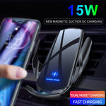 Wireless Charger with Magnetic USB Infrared Sensor and Phone Holder for Samsung S20 S10 iPhone 12 Pro Max 11 XS XR