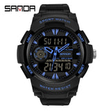 Watch Men's Sport Watches Multifunctional Chronograph Waterproof Digital Military LED Quartz Clock