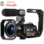 Camcorder Vlog Video Camera 4K for YouTube Blogger, Ordro AC3 IR Night Vision WiFi 1080P 60FPS Professional Digital Camcorders