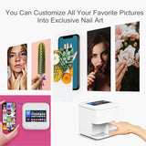 "7"" touch screen Mobile Nail Printing Machine Digital Intelligent Nail Art Printer With WIFI Manicure Salon Nail Art Equipment"