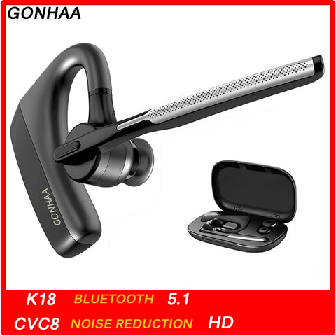 Bluetooth Earphones  Wireless Bluetooth Headset HD With CVC8.0 Dual Microphone Noise Reduction Function Suitable For Smart Phone