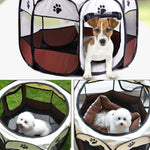 Portable Folding Pet Tent Dog House Octagonal Cage For Cat, and dogs Tent