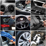 10pcs Auto Car Detailing Brush Set Car Interior Cleaning Kit Interior Dashboard Engines Leather Wheel Cleaning Brush