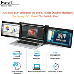 "Latest 13.3"" 1080P 4K portable Gaming Monitor usb type c hdmi Touch IPS screen computer Display for ps4 switch xbox laptop phone"