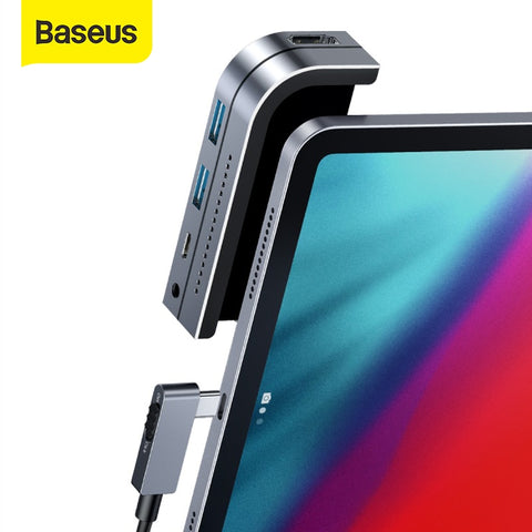 Baseus USB C HUB Type C HUB to HDMI-compatible USB 3.0 PD Port  Mobile Phone USB-C USB HUB Adapter For MacBook Pro For iPad Pro