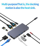 Type C hub to Multi USB 3.0 HDMI VGA Adapter Dock  Accessories USB C Type C 3.1 Splitter for MacBook Pro Laptop docking station