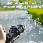 Kids Gatling Bubble Gun Toys Summer Automatic Soap Water Bubble Machine For Children Toddlers Indoor Outdoor toys