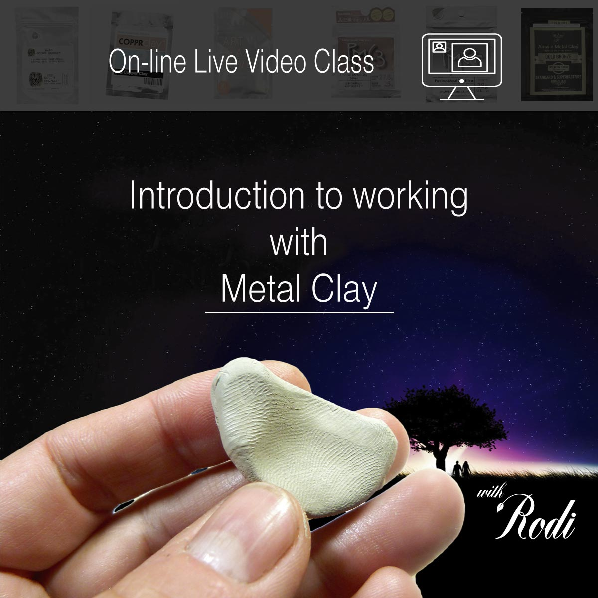 Live Video Class - Introduction To Metal Clay - Metal Clay Adventures