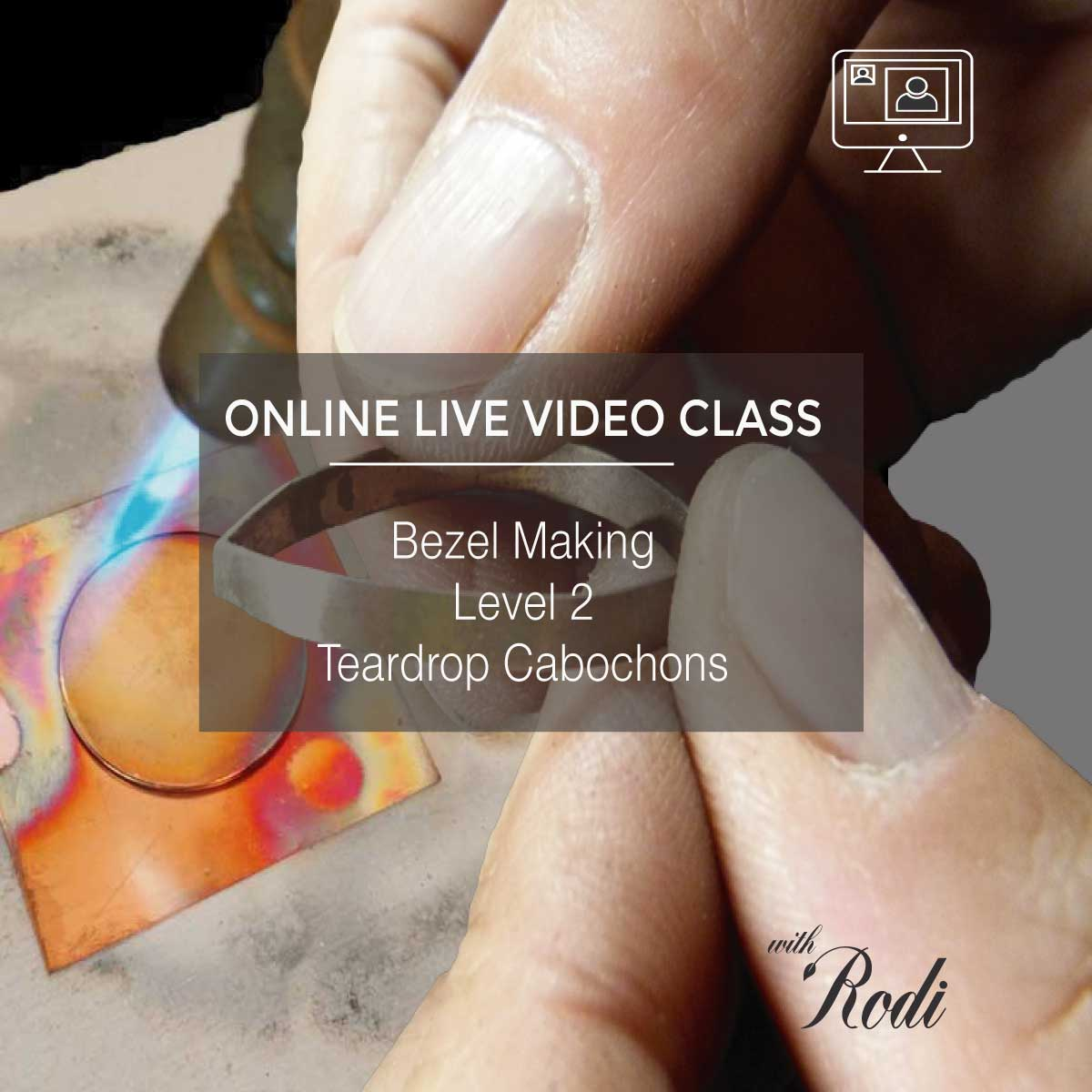 Bezel Making Level 2 (Teardrop Cabochons) - Live Video Class - Metal Clay Adventures