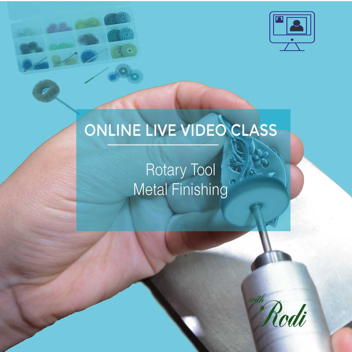Rotary Tool Metal Finishing - Live Video Class - Metal Clay Adventures