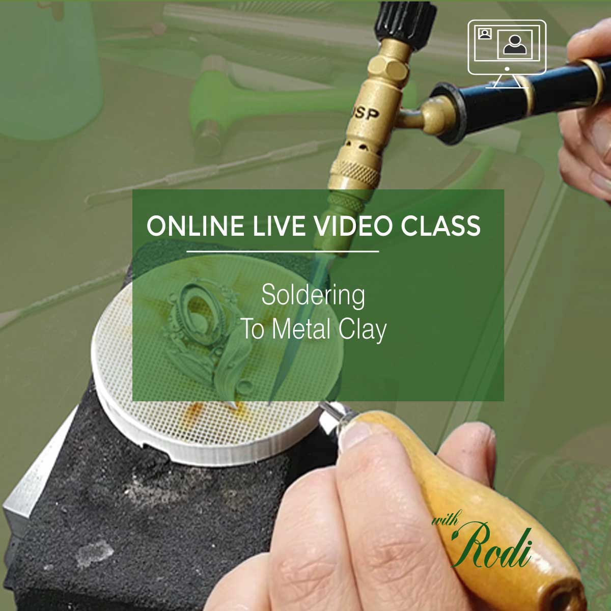 Soldering To Metal Clay - Live Video Class - Metal Clay Adventures