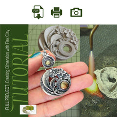 Sky Guide 11+: Metal Clay Tutorial - Forming Dimension With Flex Metal Clay & Gemstone Setting Step Guide - Metal Clay Adventures
