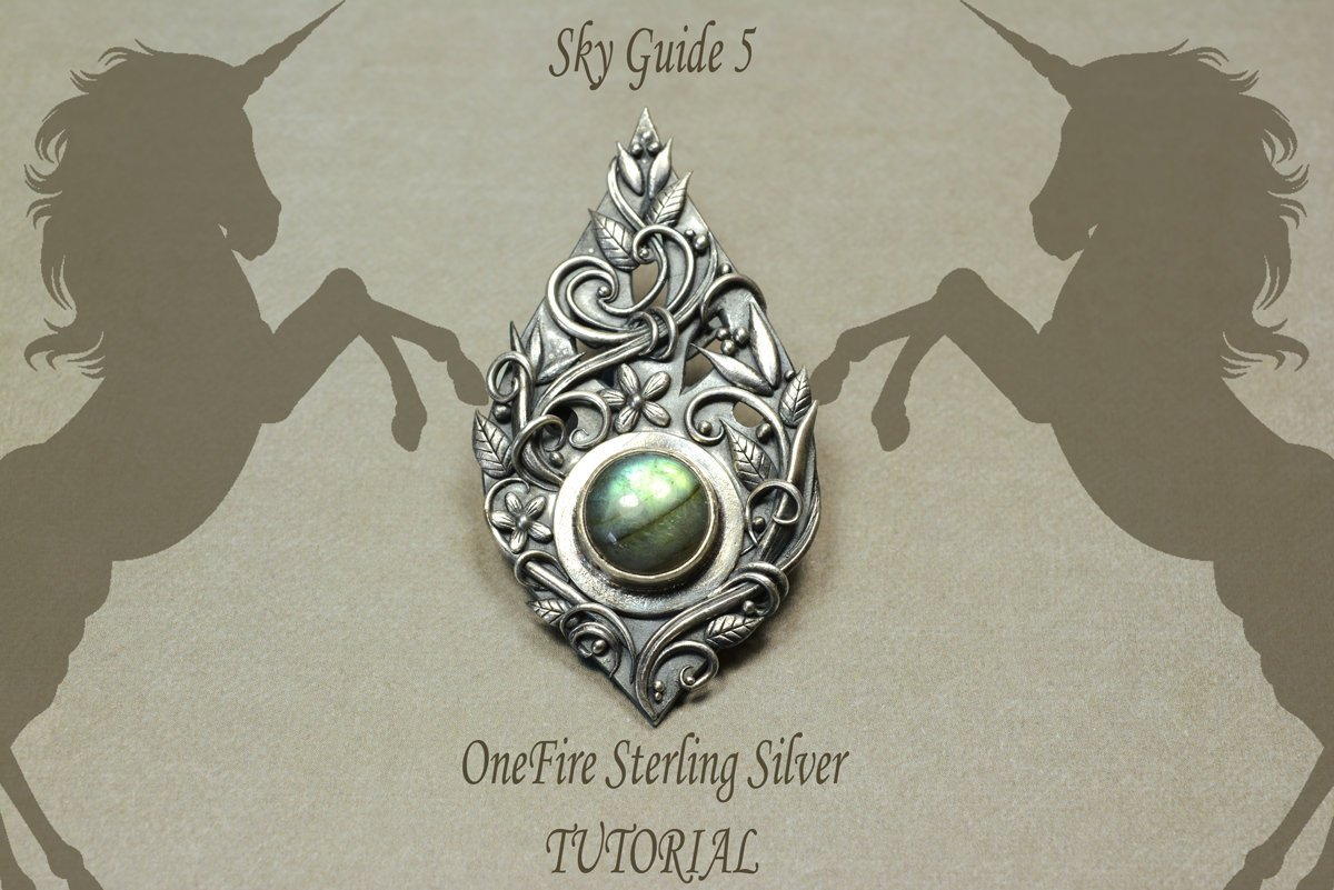 Sky Guide 5 PMC OneFire™ Sterling Metal Clay Tutorial Learn how to hand form and carve your own pendant-Sky And Beyond Jewelry By Rodi