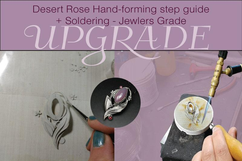 Sky Guide 8 All Metal Clay Step Guide Tutorial - Learn how to hand form metal clay with dimension-Sky And Beyond Jewelry By Rodi
