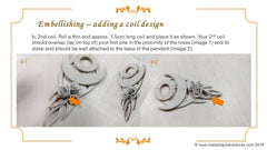 Tutorial Sky Guide 9 Upgrade Metal Clay Hand-forming + Stone Setting Step Guide - Making Roses and Dust Granulation Texturing-Sky And Beyond Jewelry By Rodi