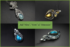 Tutorial Sky Guide 11 Metal Clay Hand-forming & Gemstone Setting Step Guide - Forming Dimension With Flex Metal Clay-Sky And Beyond Jewelry By Rodi