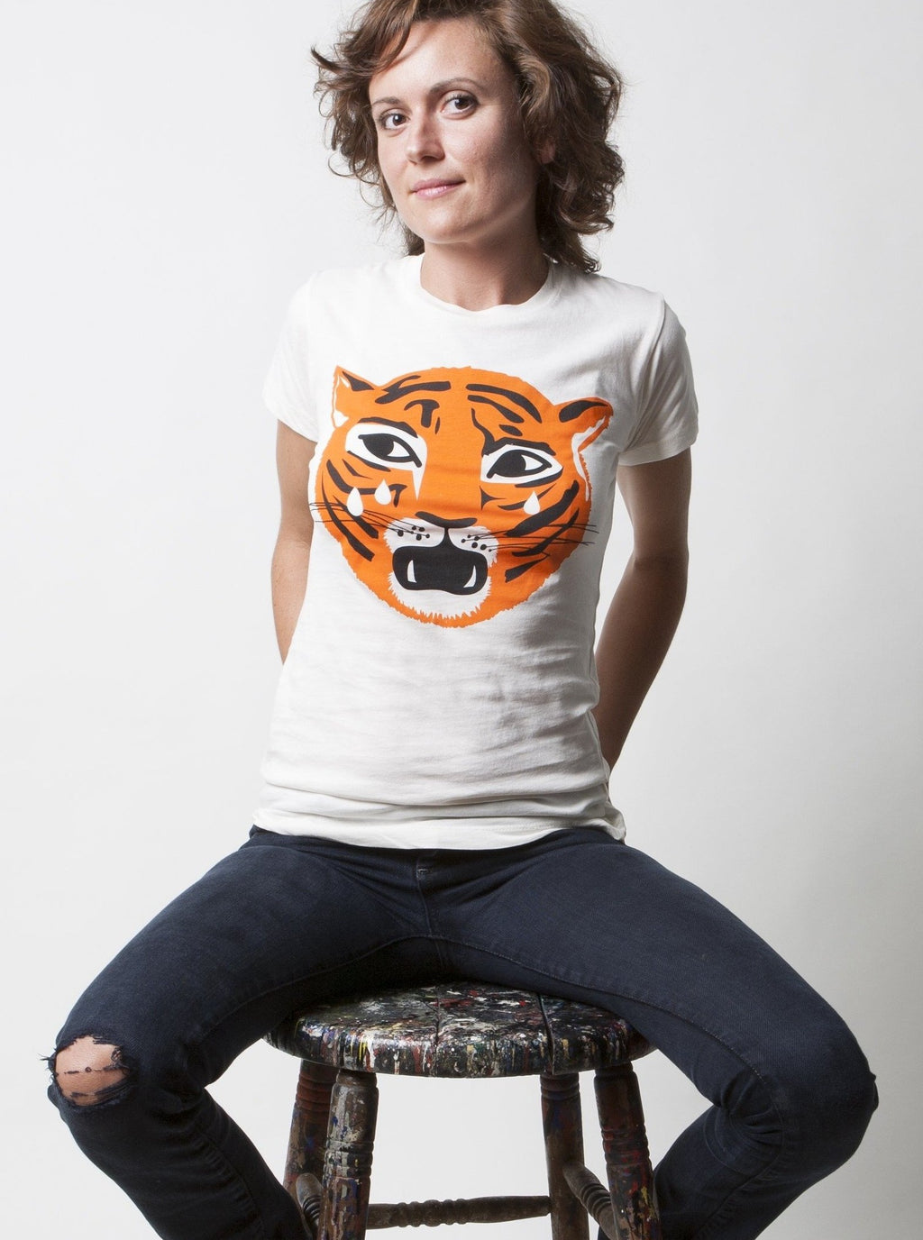 Ladies Crying Tiger Tee