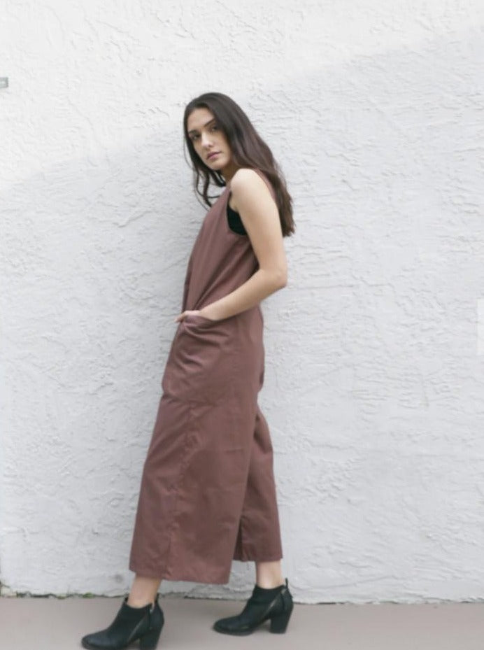 Chocolate Brown Pull On Pants