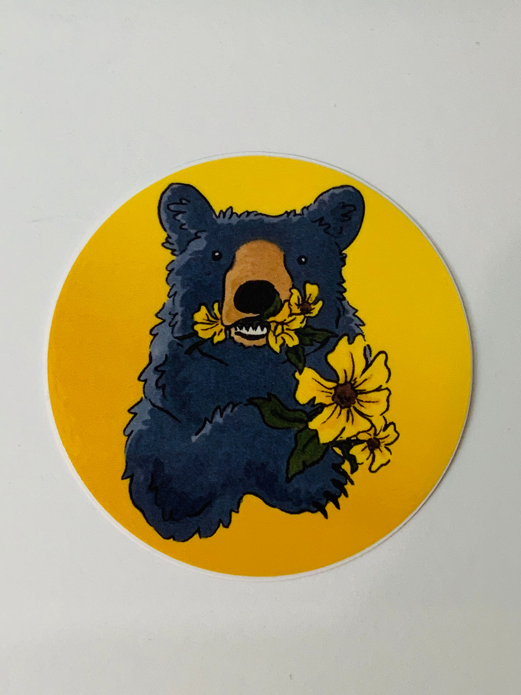 Bear & Flowers Sticker