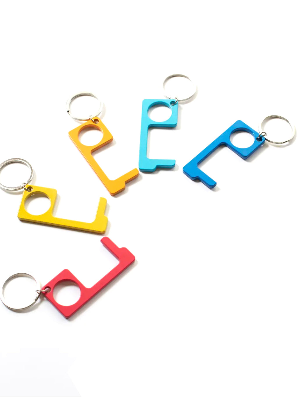 No Touch Button Pusher and Door Opener Keychain (Assorted Colors)