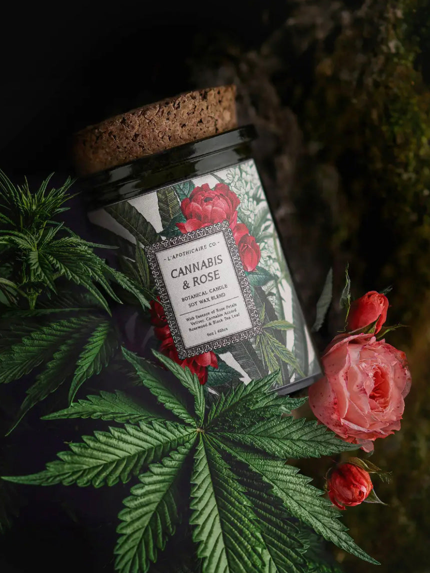 Cannabis + Rose Candle