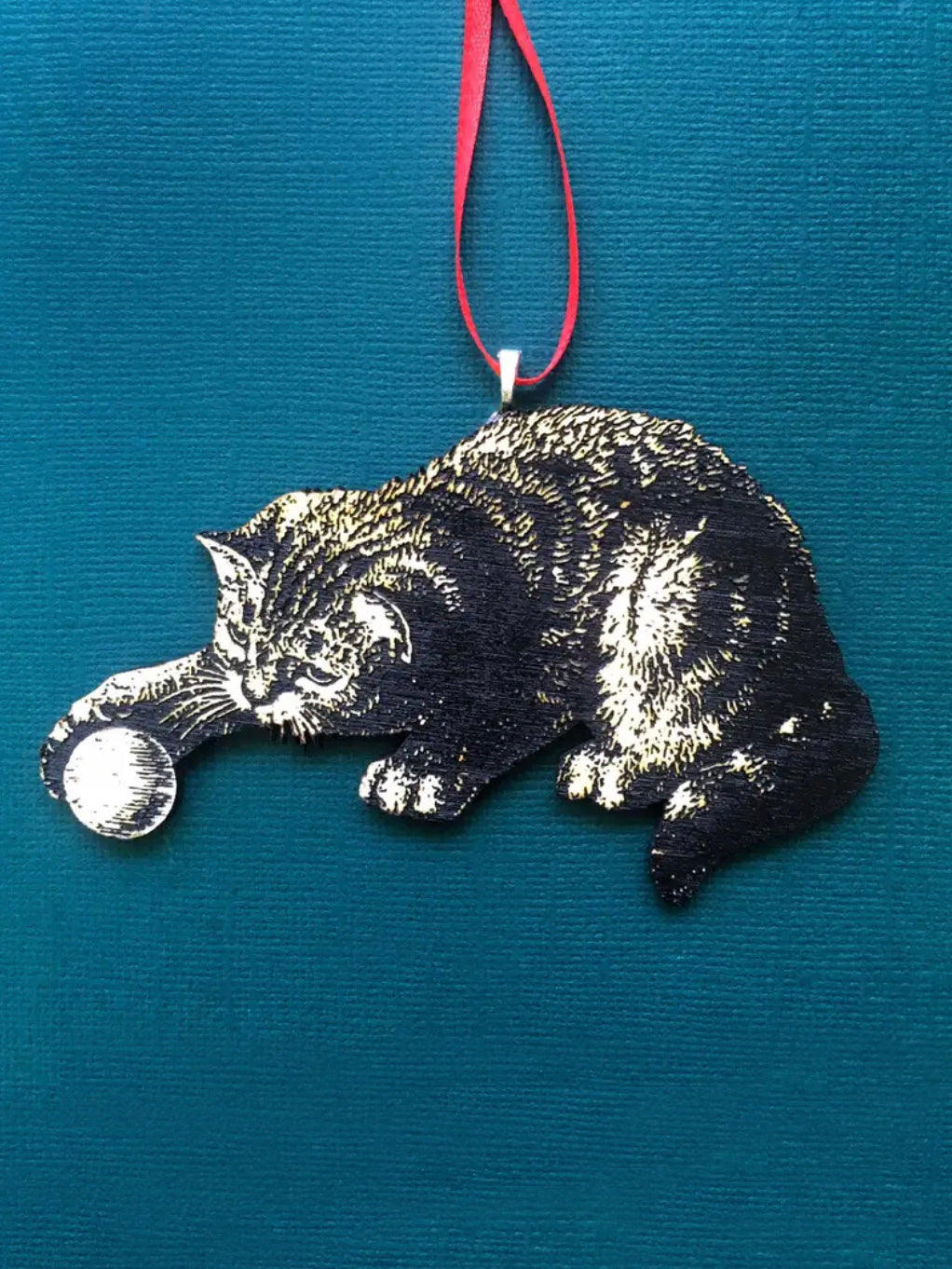 Cat With Ball Ornament
