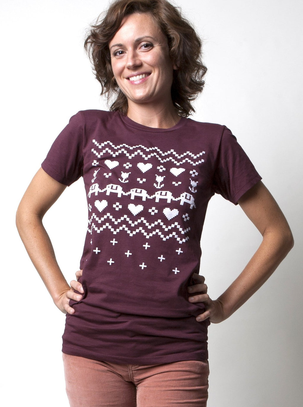 Ladies Cross Stitch Tee