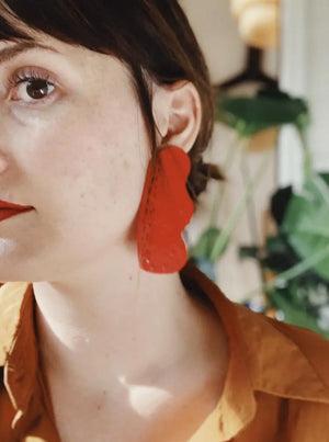 Decent Things Earrings (Red)